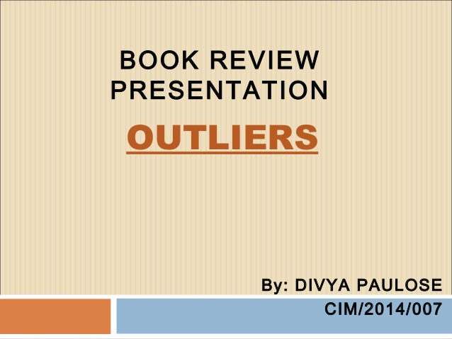 Outlier book report