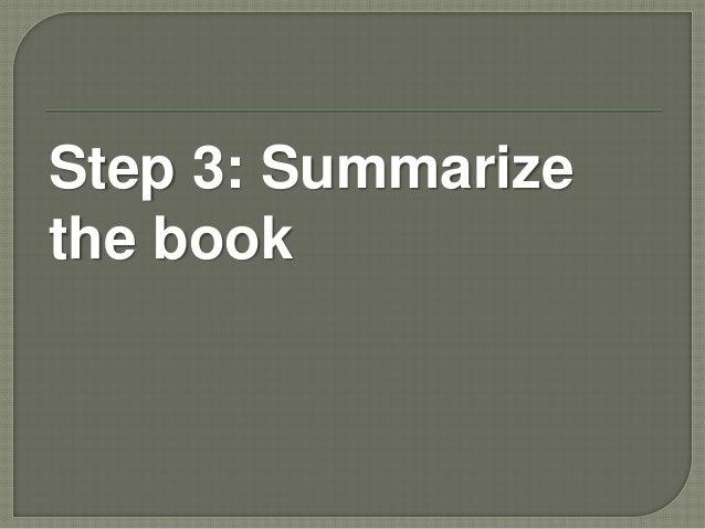 Summarize a book