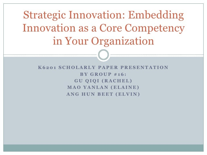 Book Review Strategic Innovation Embedding Innovation As A Core Competency In Your Organization
