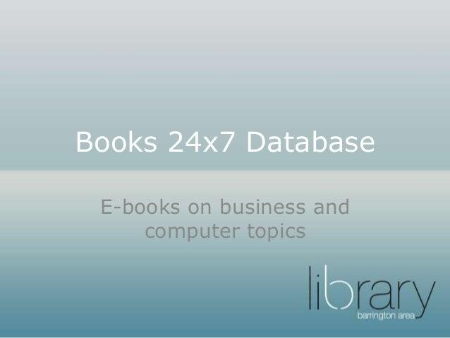 Books 24x7