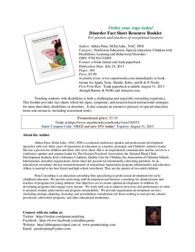 Book sellsheet