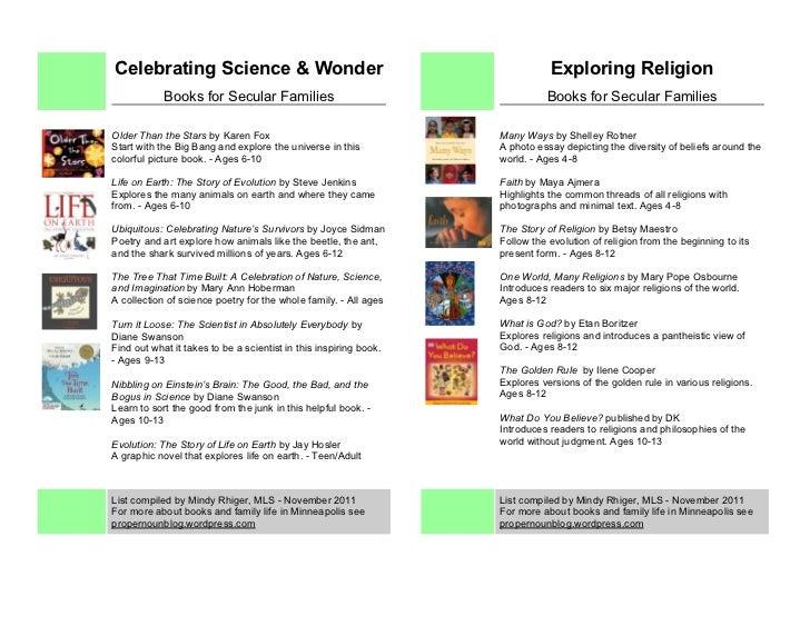 Booksfor secularfamilies