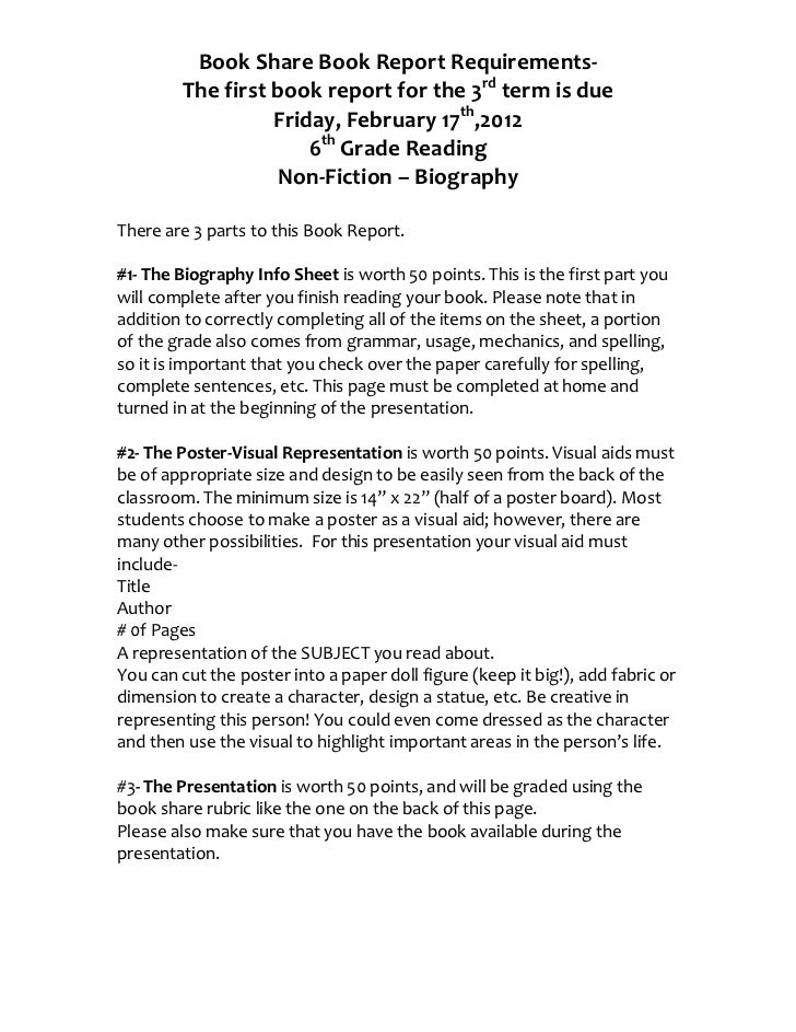 book report projects for 5th grade Welcome to 5th grade mrs book reports: students will need to read 25 books by the end of by fifth grade we expect students to have mastered their basic.