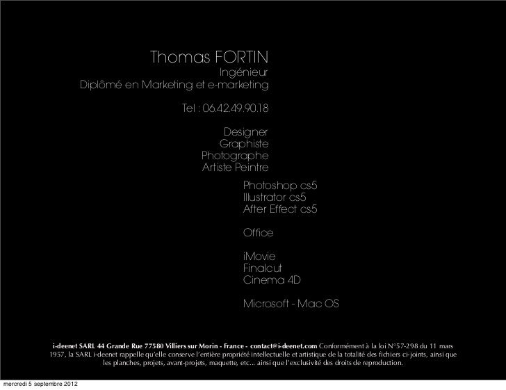 Thomas FORTIN                                                      Ingénieur                            Diplômé en Marketi...