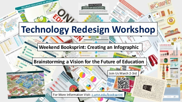 Technology Redesign Workshop    Weekend Booksprint: Creating an Infographic  Brainstorming a Vision for the Future of Educ...