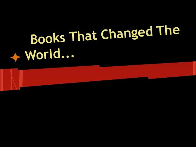 Books That Changed The World...