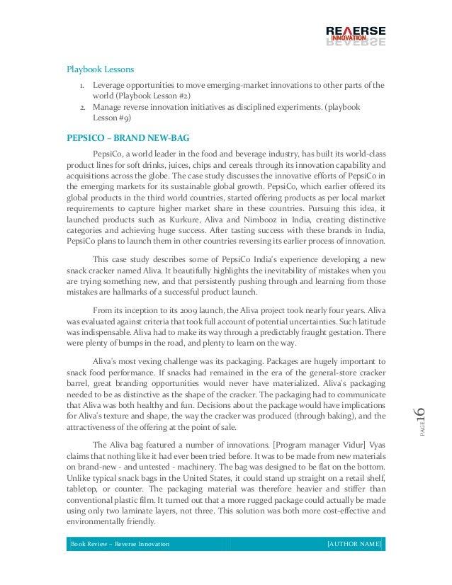 pepsico case study solution