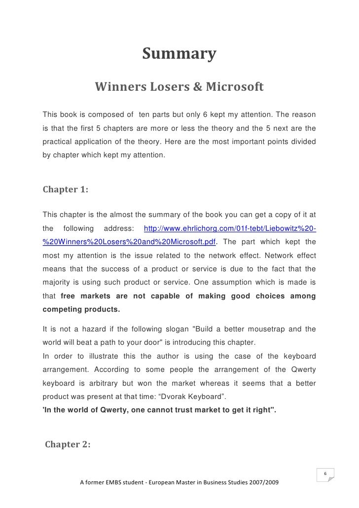 Loser book summary