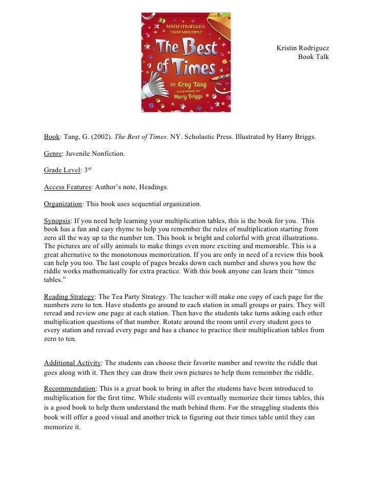 Book talk 2