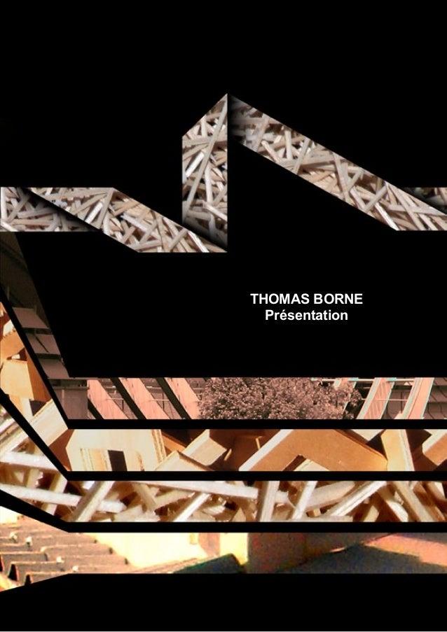 THOMAS BORNE  Présentation