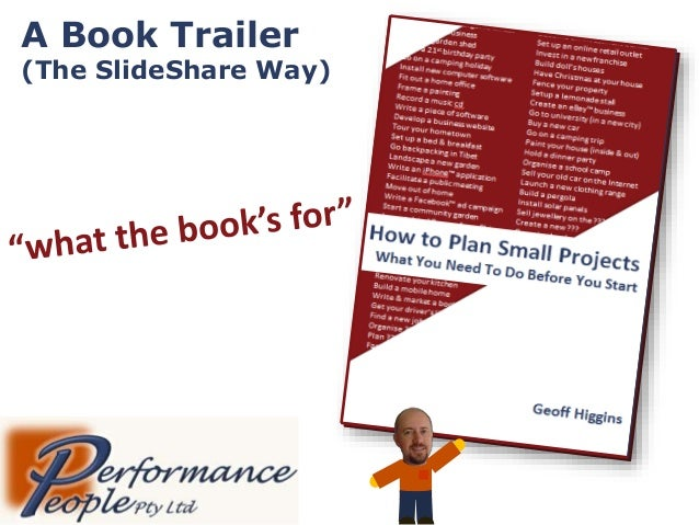 Book Trailer - How to Plan Small Projects ('what it's for')
