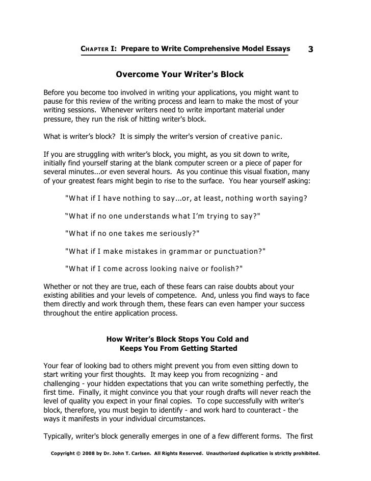 overcoming writers block dissertation Overcoming writer's block janet  of my dissertation chapters four times before it pleased my  students who are poor writers to understand that they are.