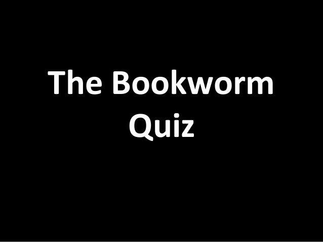 Bookworm Quiz 2014- finals