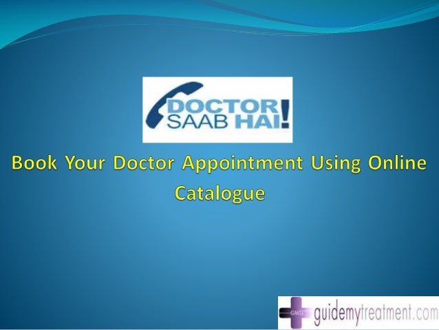 Book your doctor appointment using online catalogue