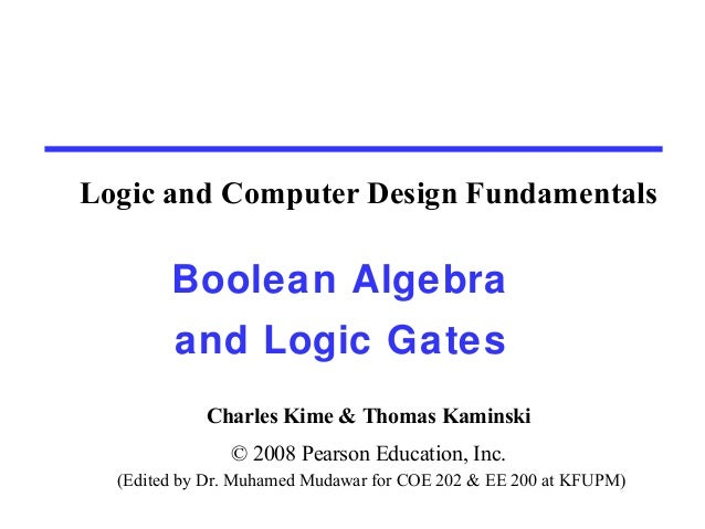 Boolean algebra And Logic Gates