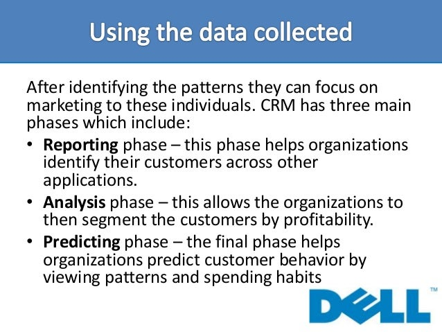 customer relationship management at dell Customer relationship management /3 wwwdhlmasterclasscom this, whilst central to the organization's operational efficiency, should be augmented with careful.
