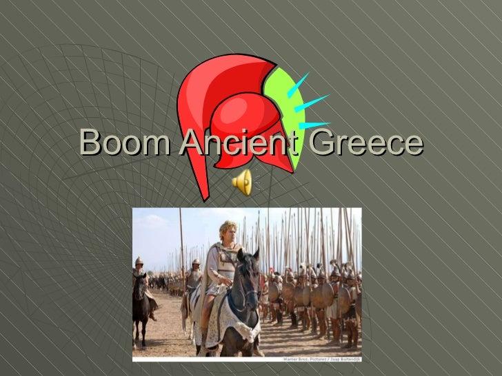 Boom Ancient Greece