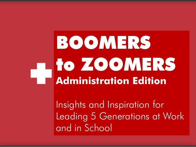 BoomerstoZoomersCopyrightTRILeadershipResourceswww.teamtri.com BOOMERS to ZOOMERS Administration Edition Insights and Insp...