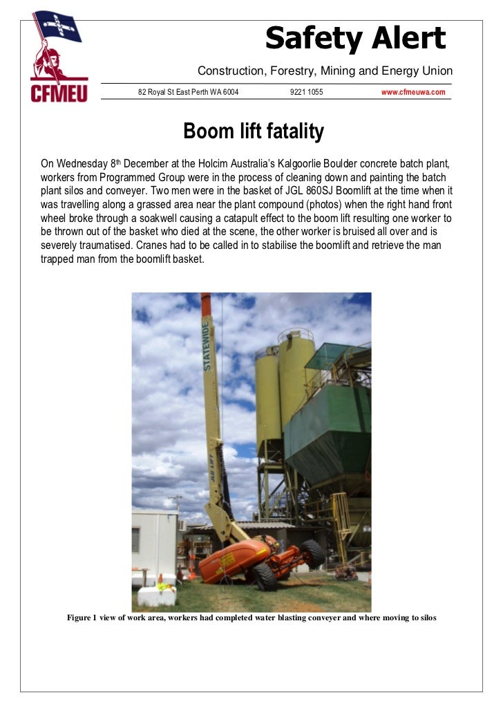Safety Alert                                          Construction, Forestry, Mining and Energy Union                     ...