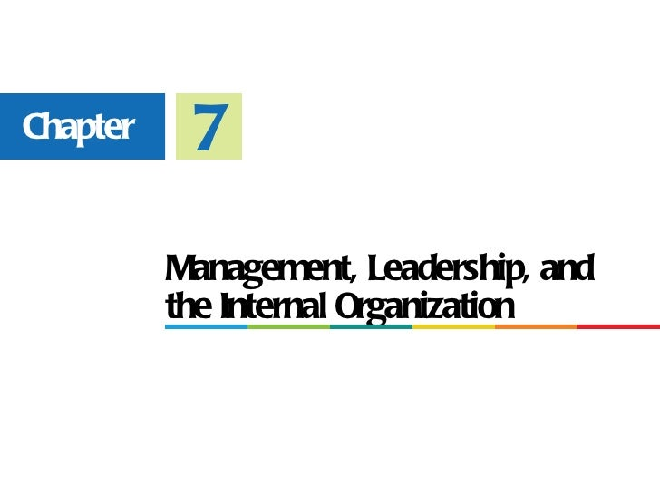 Chapter    7          Management, Leadership, and          the Internal Organization