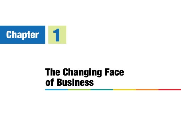 The Changing Face of Business Chapter 1