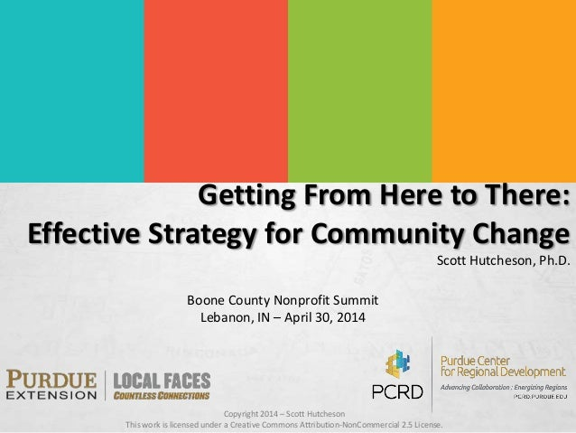 Getting From Here to There: Effective Strategies for Community Change