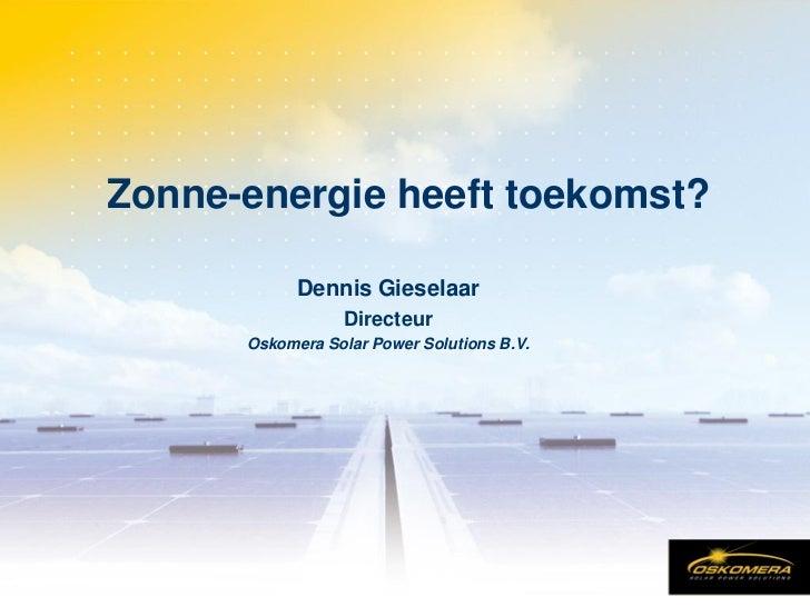 Booosting kansen voor zonne energie 31 maart 2005_oskomera sps