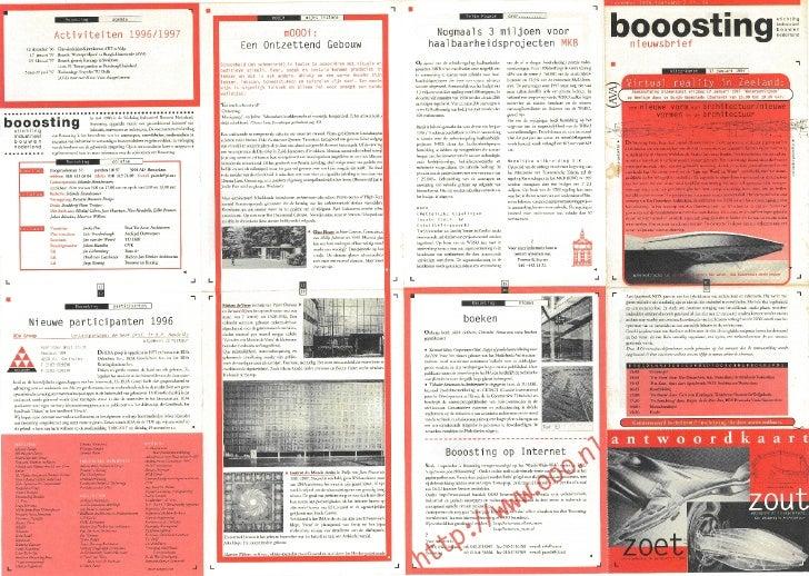 Booosting nieuwsbrief 36 (november 1996)