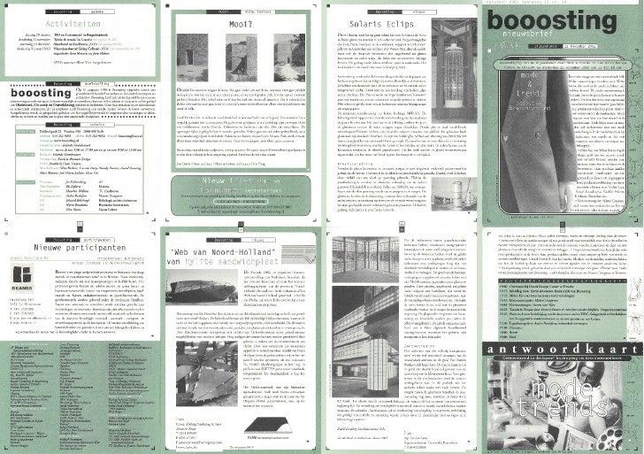 Booosting nieuwsbrief 69 (Nov 2002)