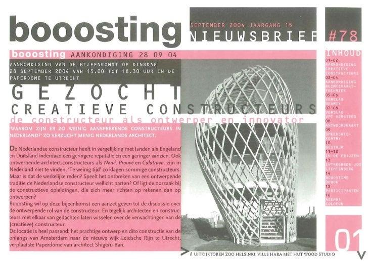 Booosting nieuwsbrief 78 (Sep 2004)