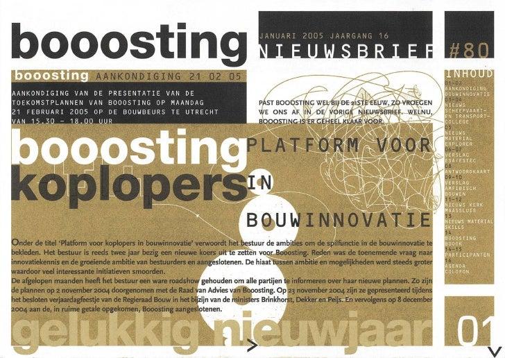 Booosting nieuwsbrief 80 (Jan 2005)