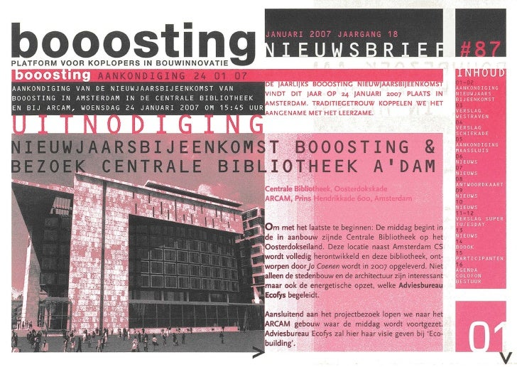 Booosting nieuwsbrief 87 (Jan 2007)
