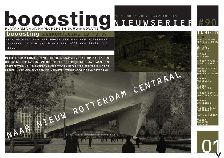 Booosting Nieuwsbrief 90 (Sep 2007)