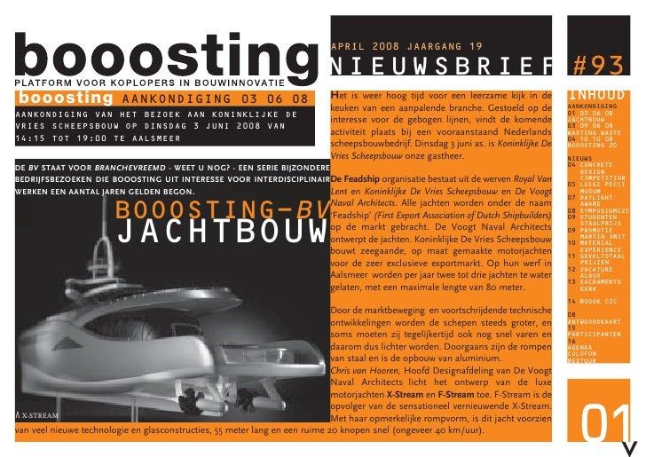 booosting NIEUWSBRIEF #93 booosting                AANKONDIGING 03 06 08                                                  ...
