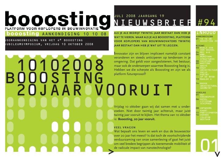 Booosting Nieuwsbrief 94 (Jul 2008)