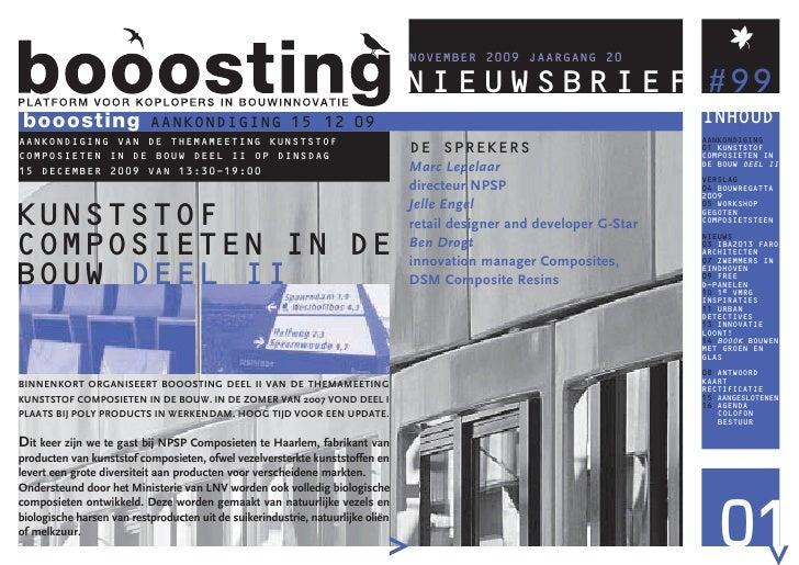 booosting NIEUWSBRIEF #99  booosting                 AANKONDIGING 15 12 09                                                ...