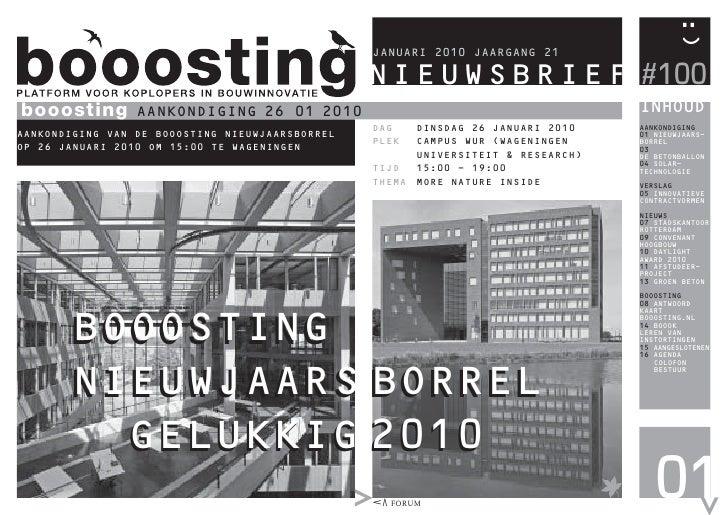 Booosting Nieuwsbrief 100 (Jan 2010)