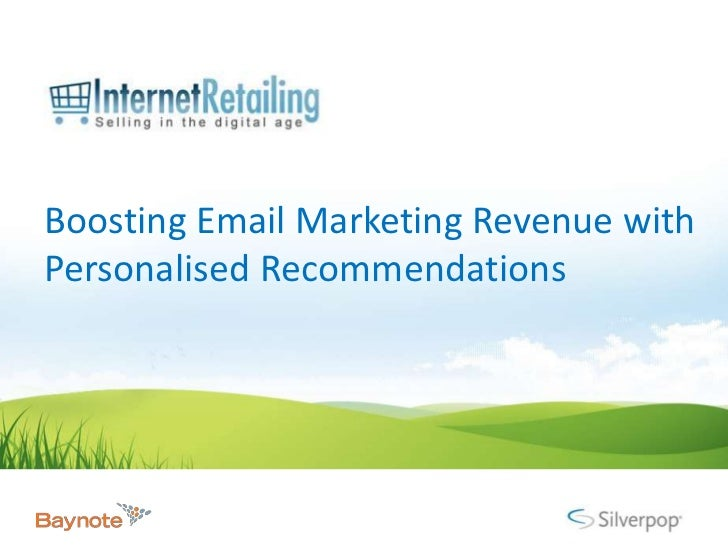Boosting Email Marketing Revenue with Personalised Recommendations<br />