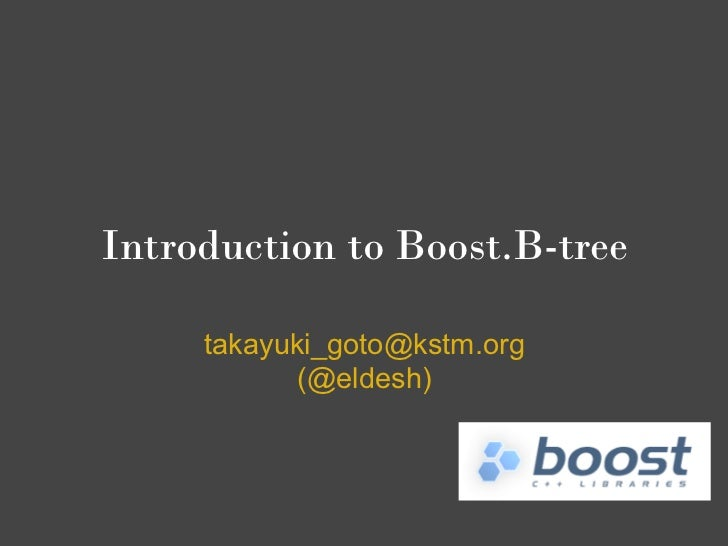Boost.B-tree introduction