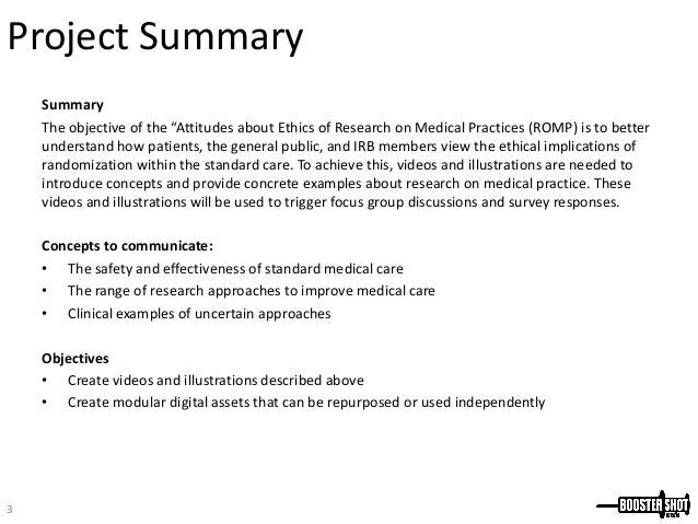 Medical Research Proposal
