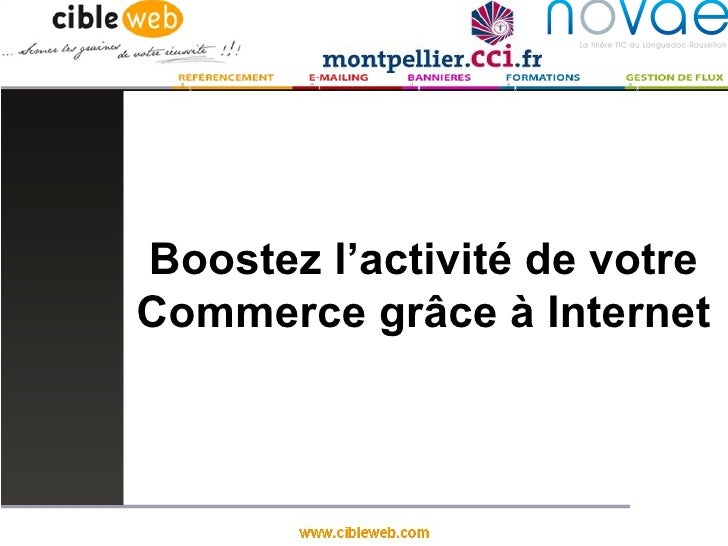 Boostez l'activité de votreCommerce grâce à Internet