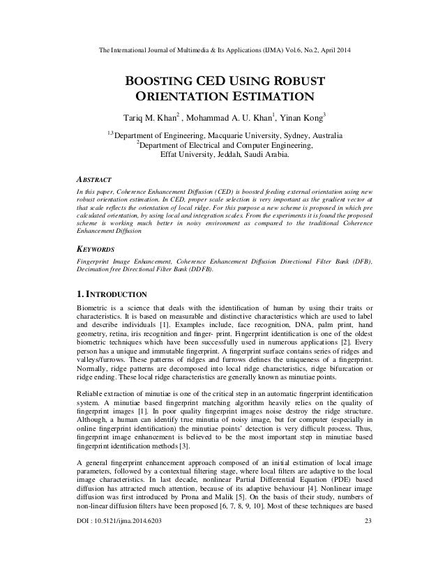 Boosting ced using robust orientation estimation