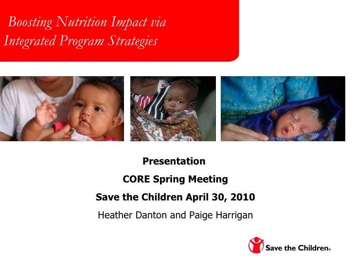Boosting Nutrition Impact via Integrated Program Strategies