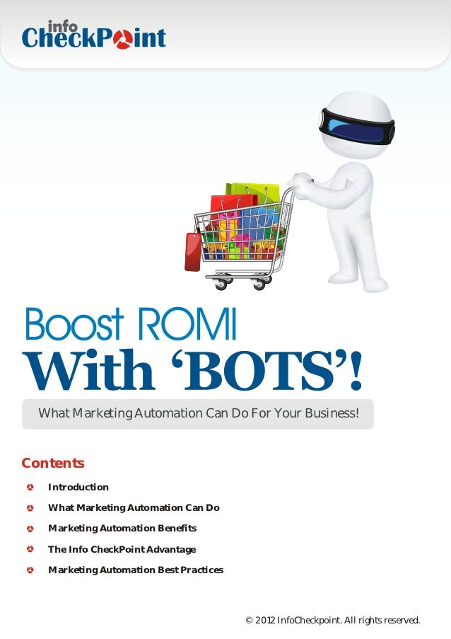 What Marketing Automation Can Do For Your Business!Contents   Introduction   What Marketing Automation Can Do   Marketing ...