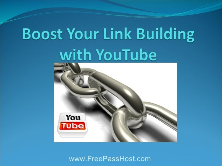 Boost Your Link Building With Youtube