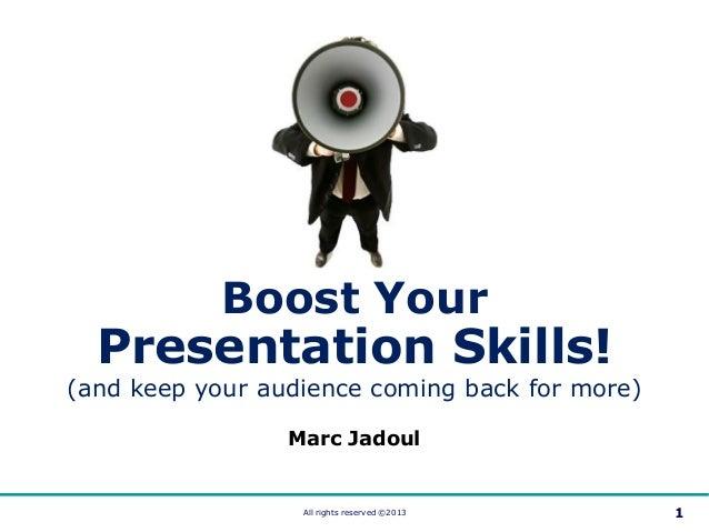 Boost Your Presentation Skills (2013)