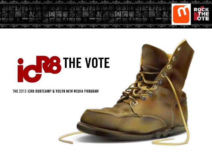 In 2012, Rock The Vote and The Marcus GrahamProject will partner to develop an incredible learning experience for aspiring...