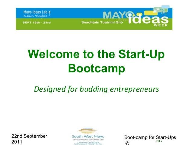 BootCamp for Start-Ups: Mayo Ideas Week