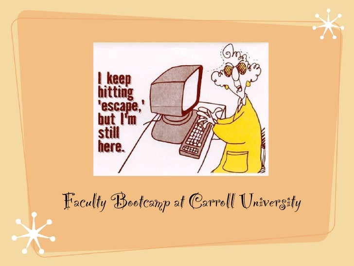 Faculty Bootcamp at Carroll University
