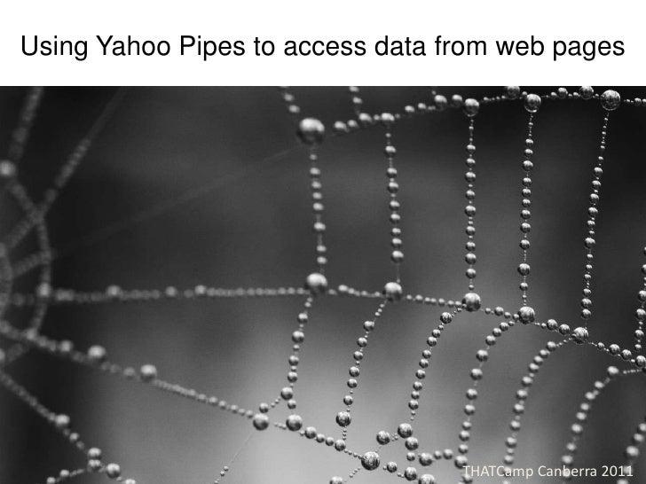 Using Yahoo Pipes